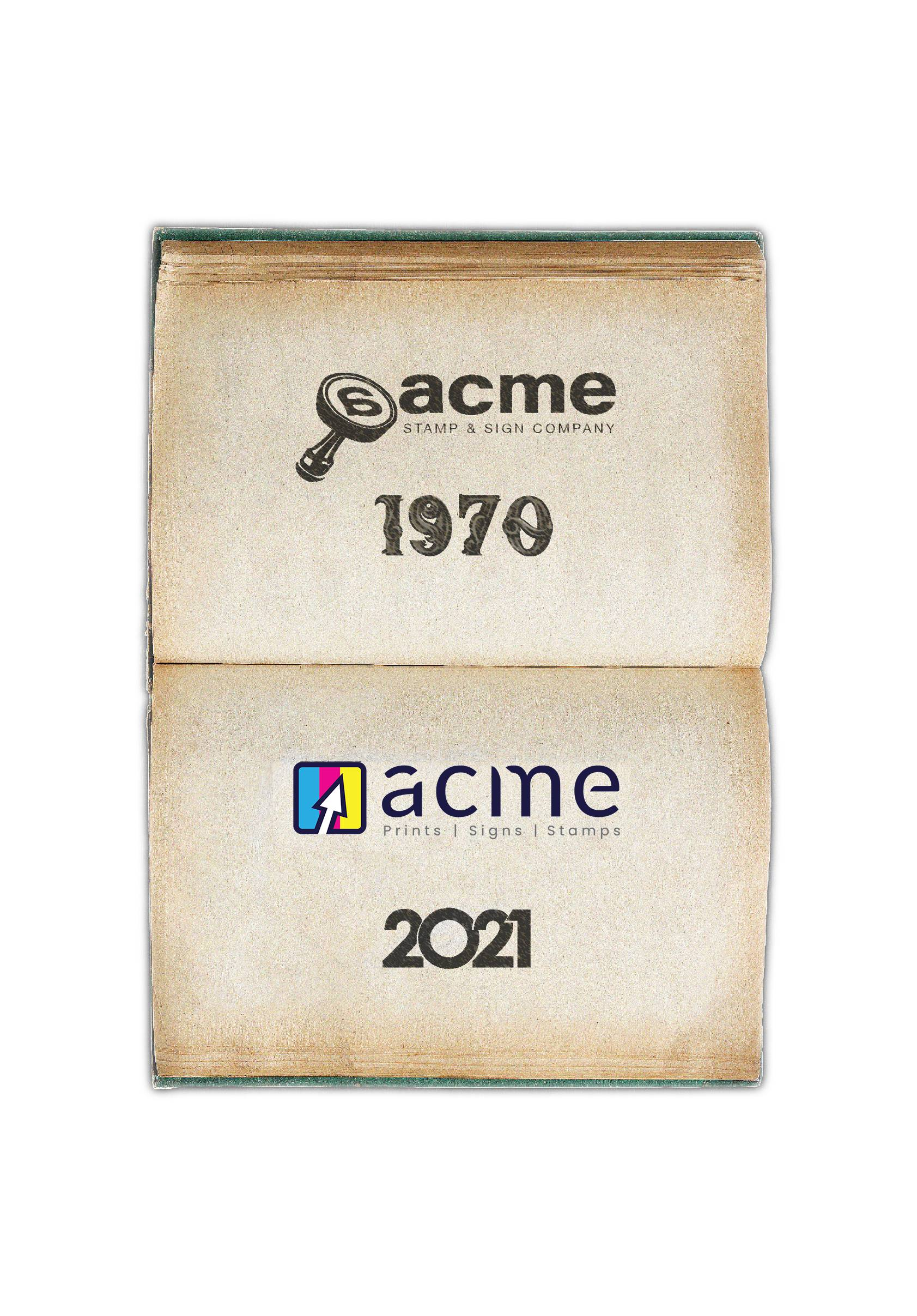 History of Acme Stamps from 1970 to 2021 - orlando - best printing company